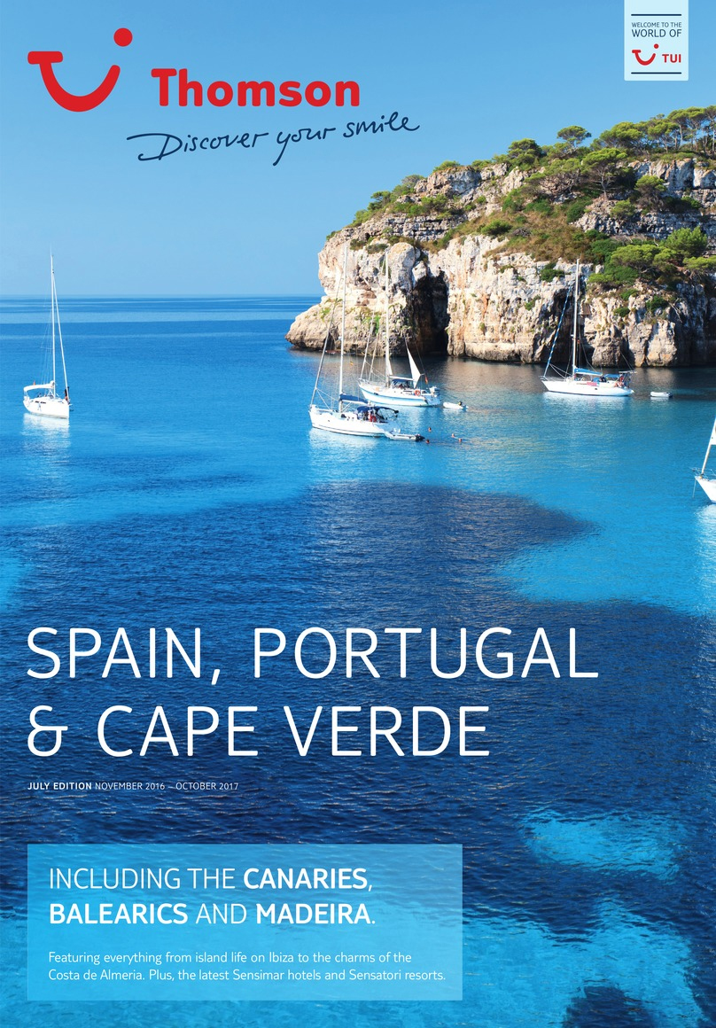 thomson holidays spain portugal brochure 2017