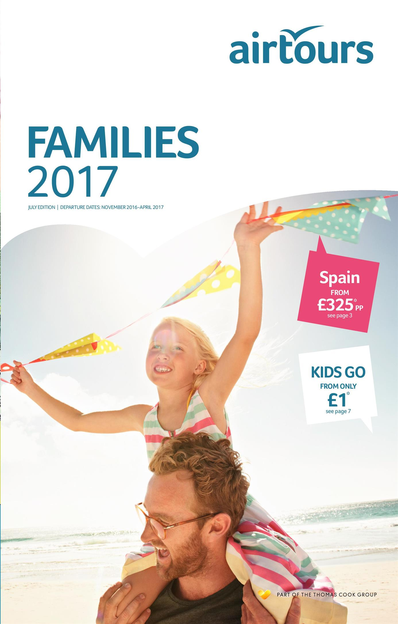 thomas cook families holidays brochure 2017