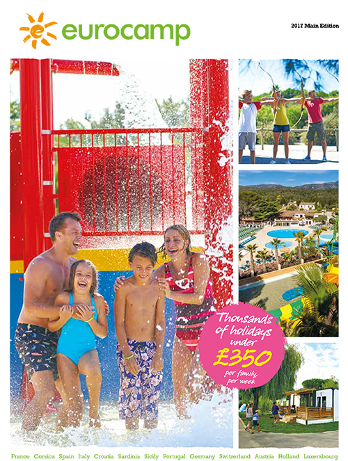 eurocamp family holidays brochure 2017