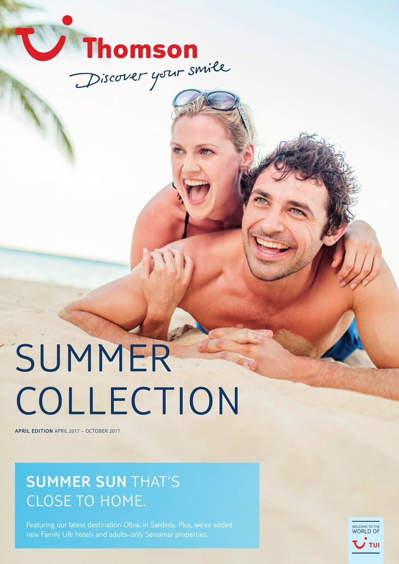 thomson holidays brochure summer sun 2018 and 2019