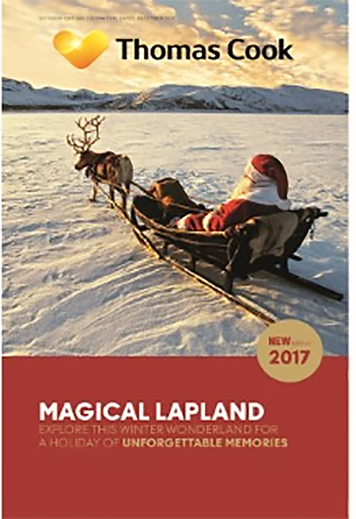 thomas cook Lapland  holiday brochure 2017