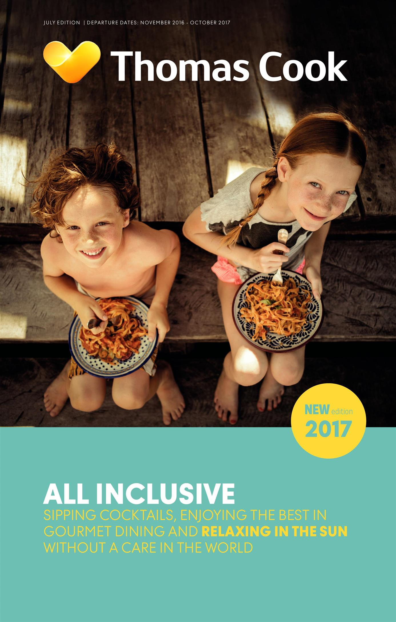 thomas cook all inclusive family holidays brochure 2017