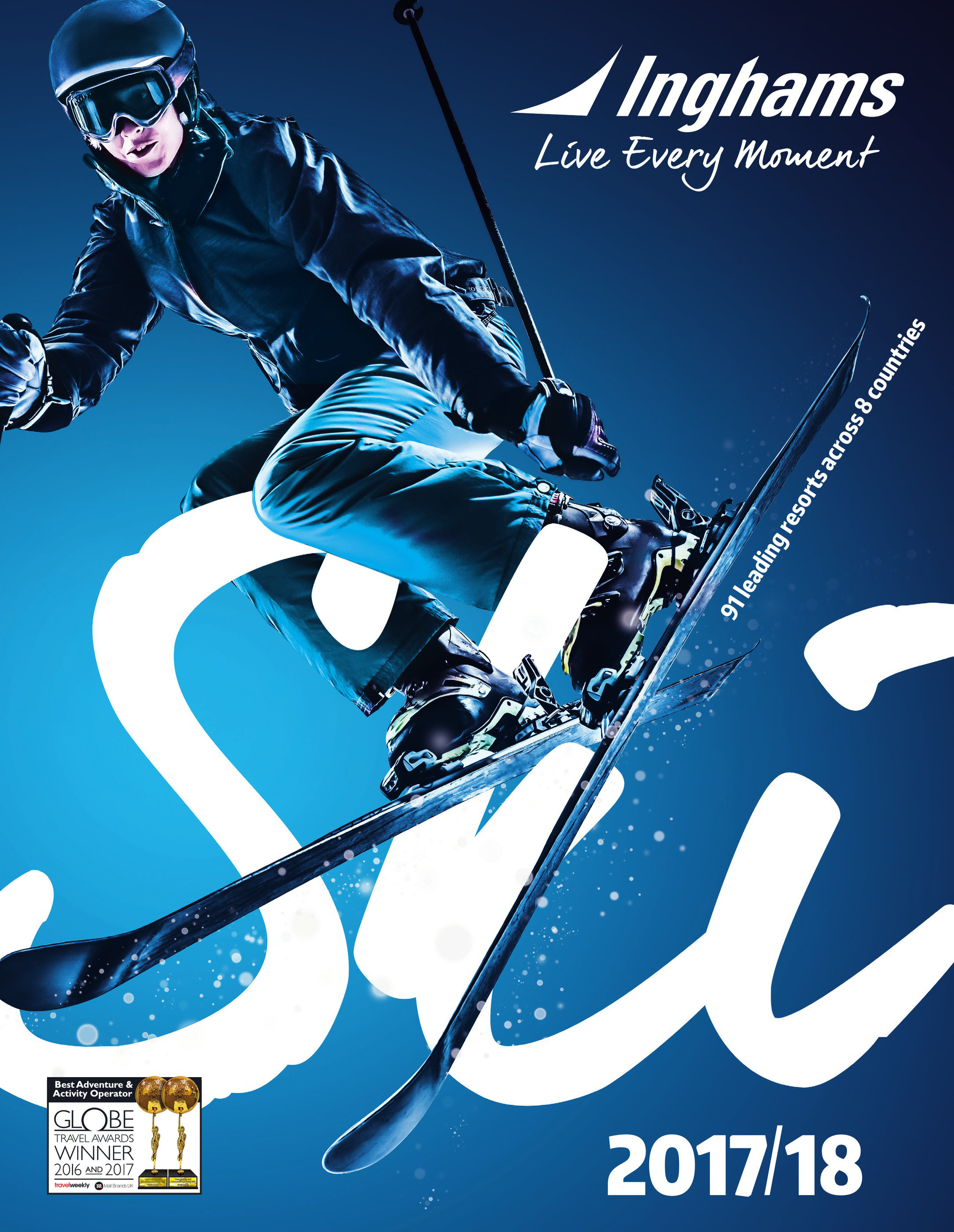 inghams ski, snowboarding live every moment brochure