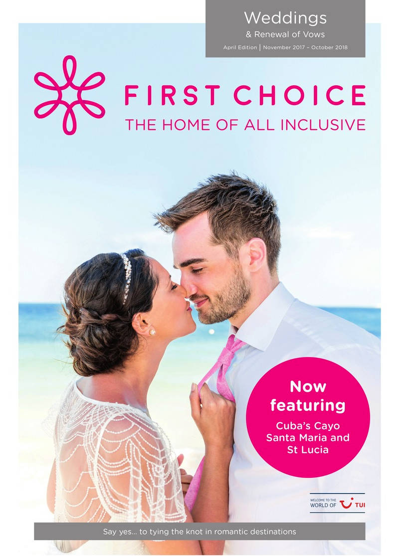 first choice all inclusive weddings brochure