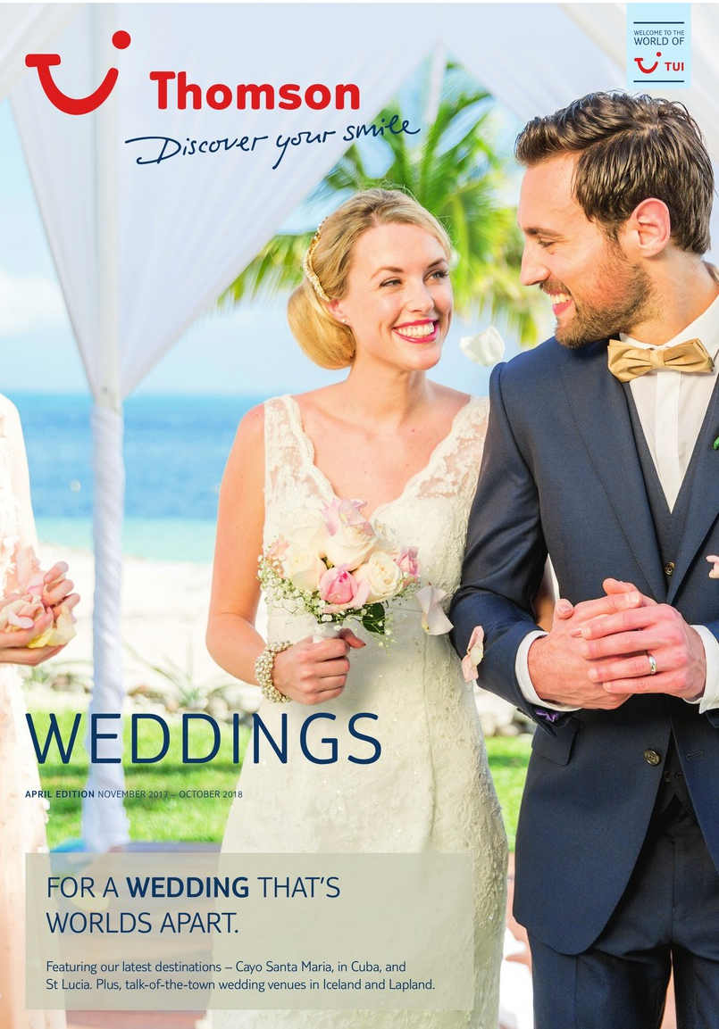 TUI weddings world apart brochure 2018
