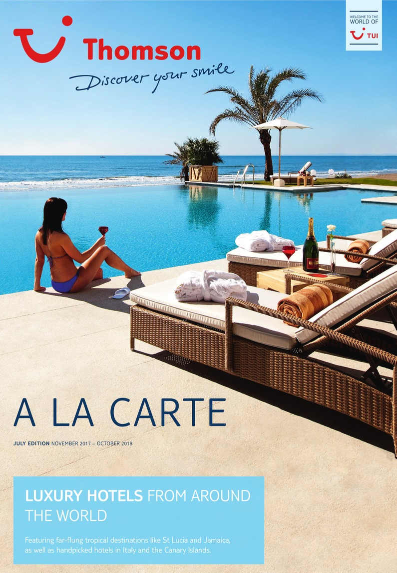tui thomson a la carte luxury holiday brochure