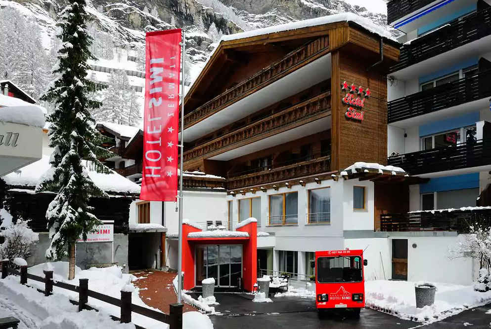 Zermatt ski hotel Simi Christmas winter sport deal