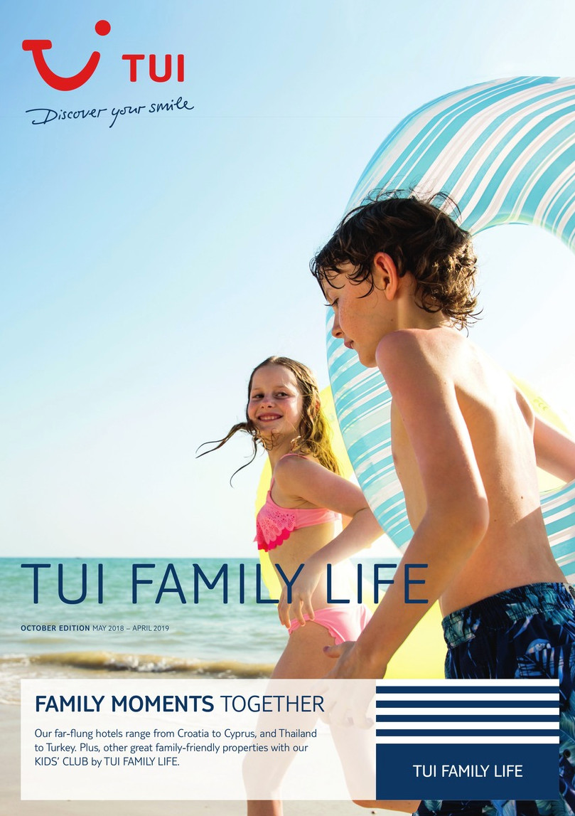 TUI family life brochure 2018