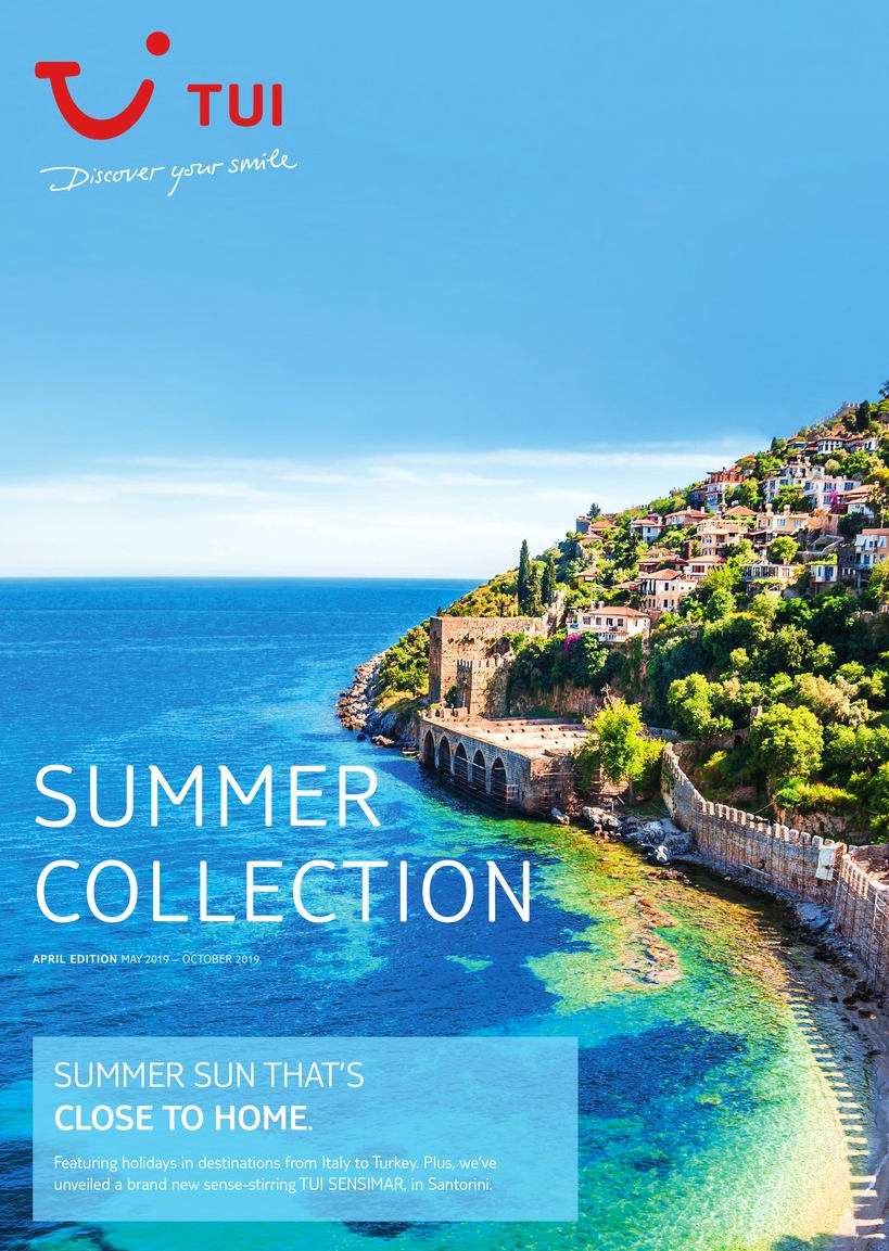 TUI holidays summer collection brochure 2018